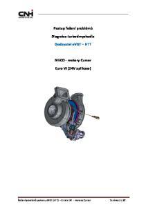 Postup řešení problémů. Diagnóza turbodmychadla. Dodavatel evgt HTT. IVECO - motory Cursor. Euro VI (24V aplikace)
