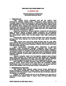 POSYANDU DAN KADER KESEHATAN. dr. ZULKIFLI, MSi. Fakultas Kesehatan Masyarakat Universitas Sumatera Utara