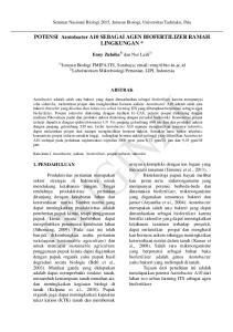 POTENSI Azotobacter A10 SEBAGAI AGEN BIOFERTILIZER RAMAH LINGKUNGAN *