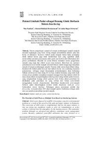 Potensi Limbah Padat sebagai Benang Gintir Berbasis Sistem Interlacing