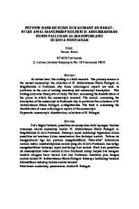 POTENSI NASKAH KUNO DI KALIMANTAN BARAT : STUDI AWAL MANUSKRIP KOLEKSI H. ABDURRAHMAN HUSIN FALLUGAH AL-MAGHFURLAHU DI KOTA PONTIANAK