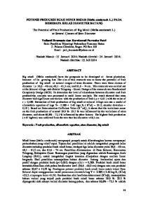 POTENSI PRODUKSI BUAH MINDI BESAR (Melia azedarach L.) PADA BEBERAPA KELAS DIAMETER BATANG