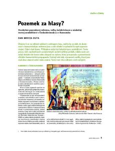 Poválečná pozemková reforma, volby, kolektivizace a následný rozvoj zemědělství v Československu a v Rumunsku