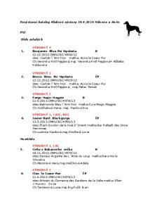 Povýstavní katalog Klubové výstavy Milovice u Hořic
