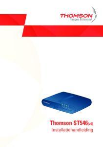 Power. Ethernet DSL. Internet. Thomson ST546(v6) Installatiehandleiding
