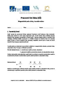 Pracovní list žáka (SŠ)