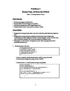 Praktikum 3 Konsep Class, Attribute dan Method
