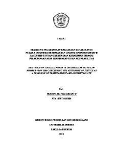 PRANDY ARIF KUSIRIANTO NIM : KEMENTERIAN PENDIDIKAN DAN KEBUDAYAAN UNIVERSITAS JEMBER FAKULTAS HUKUM