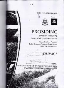 PRCSIDINC VOLUME DAN RAPAT TAHUNAN DEIGN SEMINAR NASIONAL TAN, SBN : Badan l(erjasama Perguruan Tinggi Negeri