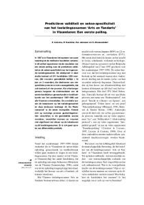 Predictieve validiteit en sekse-specificiteit. van dit toelatingsexamen Arts en Tandarts. in Vlaanderen: Een eerste peiling