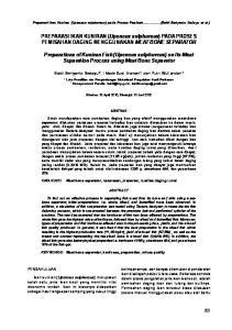 PREPARASI IKAN KUNIRAN (Upeneus sulphureus) PADA PROSES PEMISAHAN DAGING MENGGUNAKAN MEAT BONE SEPARATOR