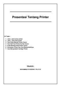 Presentasi Tentang Printer