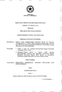 PRESIDEN PERATURAN PEMERINTAH REPUBLIK INDONESIA TENTANG REKLAMASI DAN PASCATAMBANG DENGAN RAHMAT TUHAN YANG MAHA ESA PRESIDEN REPUBLIK INDONESIA,