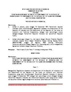 PRESIDEN REPUBLIK INDONESIA,
