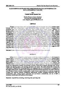 Priscilla T.Q. Paat, Kajian Sistem Akuntansi. KAJIAN SISTEM AKUNTANSI PERTANGGUNGJAWABAN DALAM PENGENDALIAN BIAYA OPERASIONAL PADA BPR