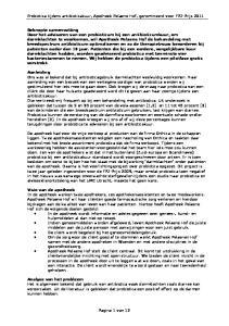 Probiotica tijdens antibioticakuur, Apotheek Pelaene Hof, genomineerd voor FPZ-Prijs 2011
