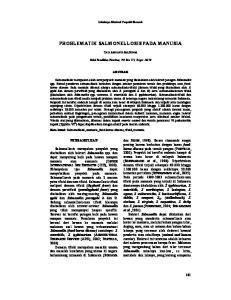 PROBLEMATIK SALMONELLOSIS PADA MANUSIA