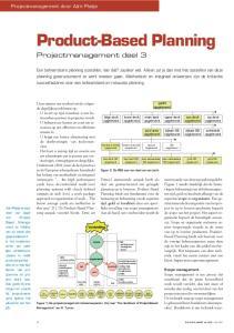 Product-Based Planning Projectmanagement deel 3