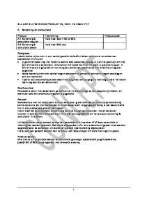 Product Toelichting Productcode A 1 Screening & Inzet door post HBO of WO