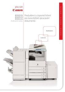 Produktivní a úsporné řešení pro kancelářské zpracování dokumentů