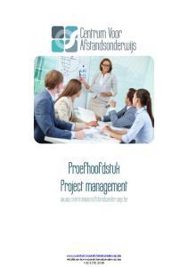 Proefhoofdstuk Project management