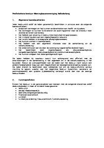 Profielschets bestuur Woningbouwvereniging Volksbelang. 1. Algemene basiskwaliteiten