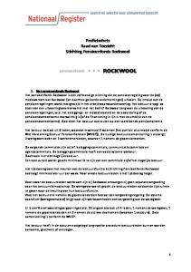 Profielschets Raad van Toezicht Stichting Pensioenfonds Rockwool