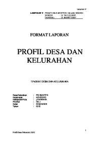PROFIL DESA DAN KELURAHAN