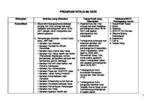 PROGRAM KERJA 99 HARI