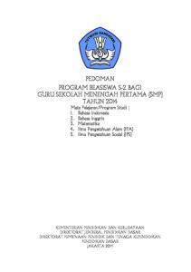 Program Studi : 1. Bahasa Indonesia 2