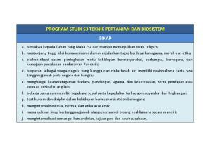 PROGRAM STUDI S3 TEKNIK PERTANIAN DAN BIOSISTEM SIKAP