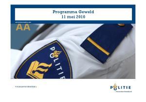 Programma Geweld 11 mei 2010