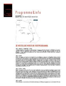 Programma&info EGYPTE:De westelijke woestijn