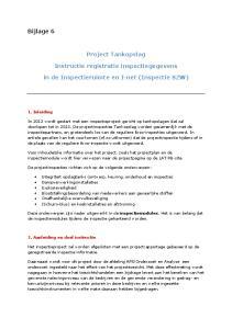 Project Tankopslag. Instructie registratie inspectiegegevens. in de Inspectieruimte en I-net (Inspectie SZW)