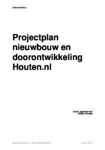 Projectplan nieuwbouw en doorontwikkeling Houten.nl