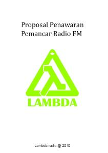 Proposal Penawaran Radio FM