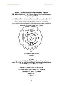 Proses Komunikasi Departemen Community Relations PT. Holcim Indonesia Tbk. Cilacap Dalam Membina Hubungan Dengan Masyarakat