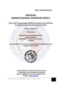 PROSIDING SEMINAR NASIONAL PENDIDIKAN SAINS II