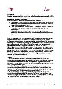Protocol Inzet arts-deskundigen vanuit de Polikliniek Mens en Arbeid - AMC