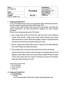 Protokol WAN. bit-bit tersebut terpola untuk dapat diterjemahkan