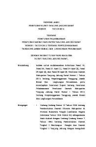 PROVINSI JAMBI PERATURAN BUPATI TANJUNG JABUNG BARAT NOMOR TAHUN 2015