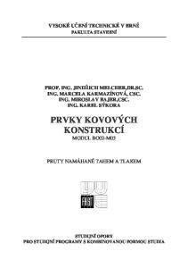 PRVKY KOVOVÝCH KONSTRUKCÍ MODUL BO02-M03
