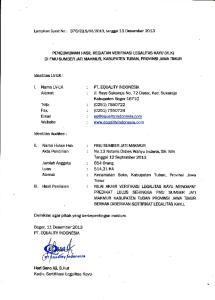 PT. EQUALTW TNDONESTA. JI. Raya Sukaraja No. 72 Ciater, Kec. Sukaraja. Kabupaten Bogor (0251) (0251)