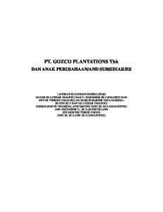 PT. GOZCO PLANTATIONS Tbk