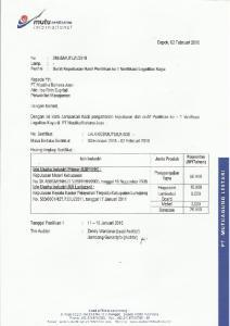 PT MUTUAGUNG LESTARI RESUME HASIL PENILIKAN KE-1 LEGALITAS KAYU