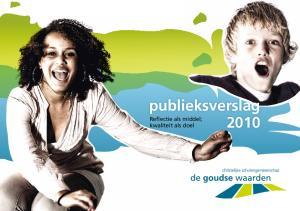 publieksverslag Reflectie als middel; kwaliteit als doel