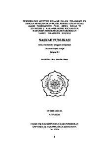 PUBLIKASI ILMIAH DYAH LUSIANA A54F ABSTRAK