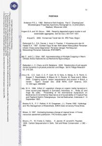 PUSTAKA. Angers D.A, and M. Giroux Recently deposited organic matter in soil waterstable aggregates. Soil Sci Soc J 60: