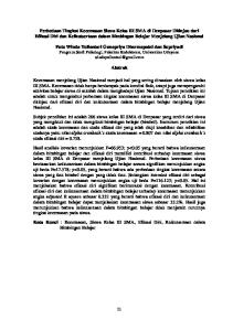 Putu Winda Yuliantari Gunapriya Dharmapatni dan Supriyadi Program Studi Psikologi, Fakultas Kedokteran, Universitas Udayana