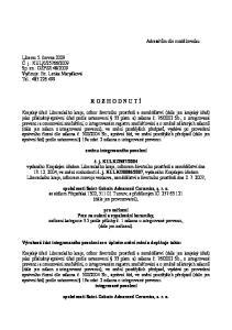 R O Z H O D N U T Í. změnu integrovaného povolení